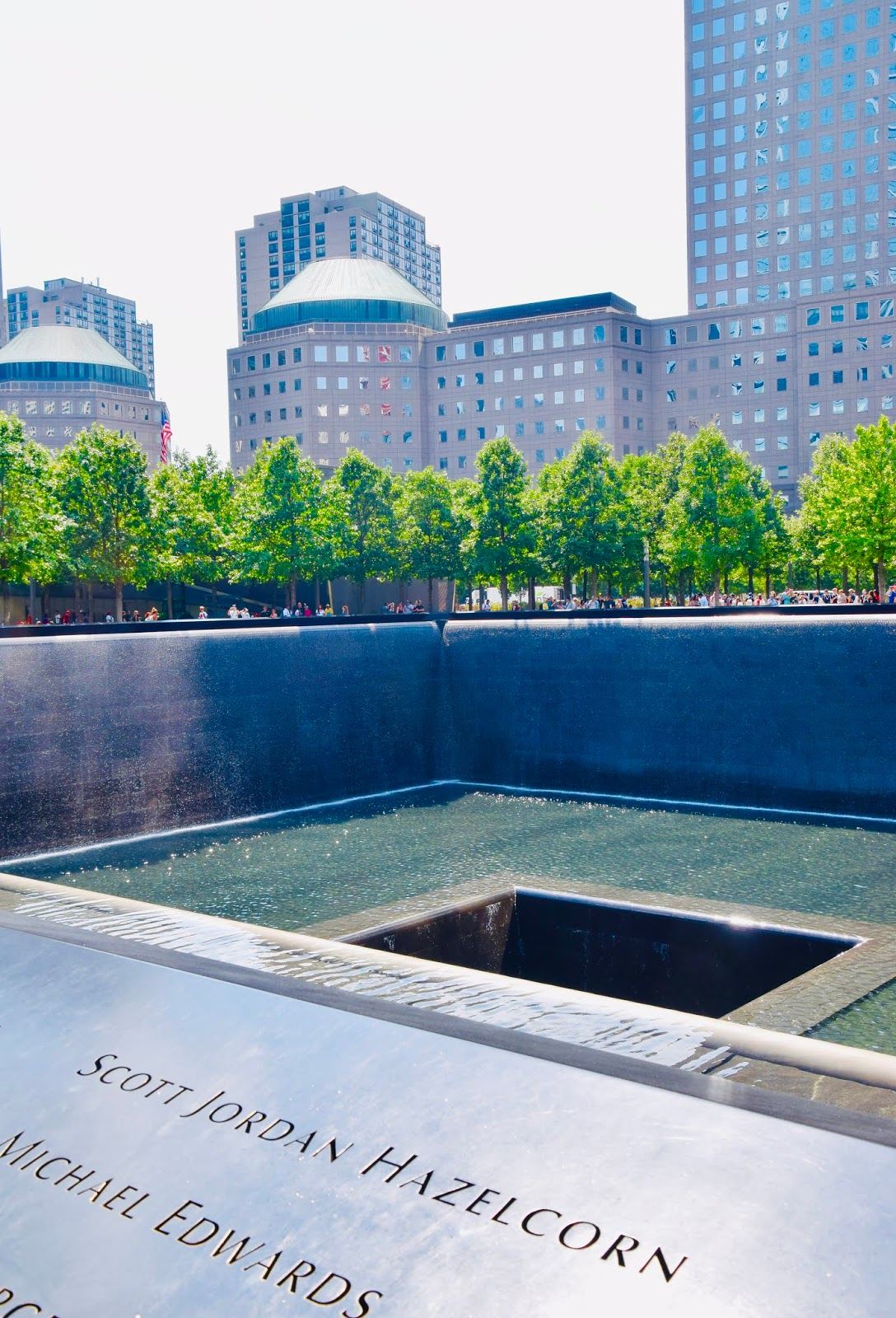 Memorial Pool at World Trade Center, New York City | Ms. Toody Goo Shoes