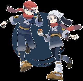Personagens Pokémon Legends: Arceus