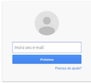 Fazer login do GMAIL inserir e-mail