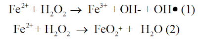 Reaçao formaçao reagente fenton