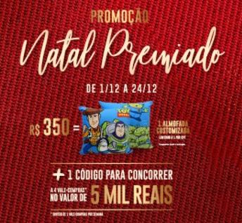 Promoção Natal 2020 Metrô Itaquera Shopping Ganhe Almofada e Concorra Vales-Compras