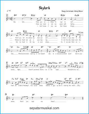 Skylark chords jazz standar