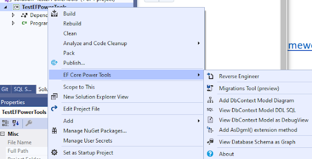 EF Core Power Tools in Visual Studio 2019
