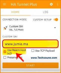 تطبيق Ha tunnel jumia