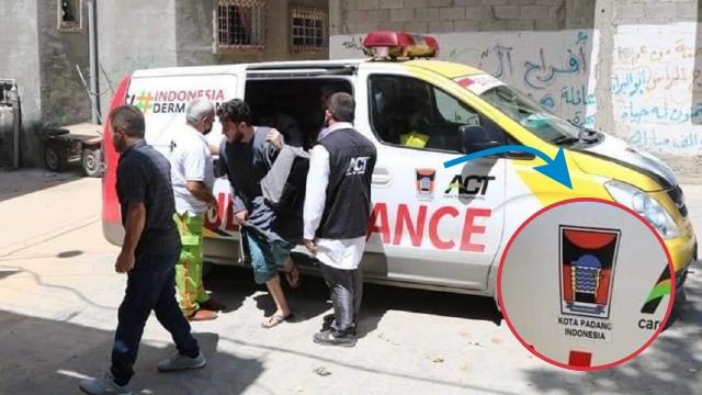Ambulance Donasi Warga Padang Bantu Evakuasi Korban Bombardir Israel di Palestina