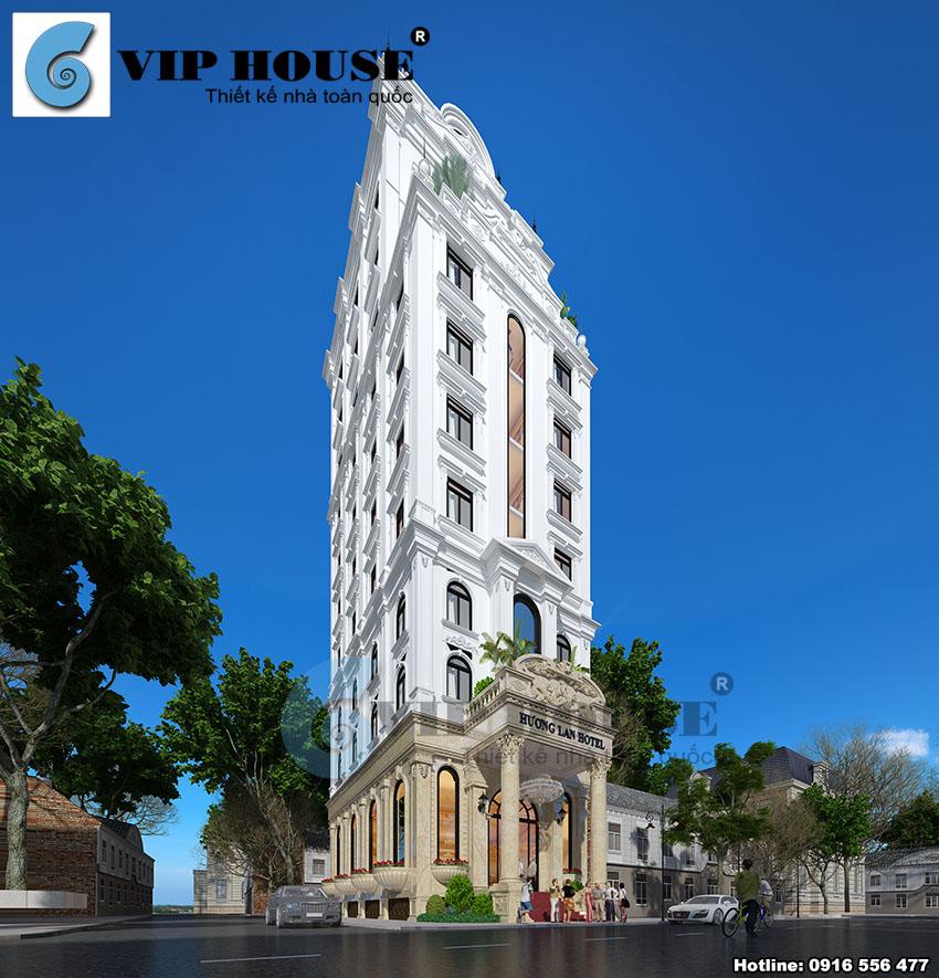 Hình ảnh: Hương Lan Hotel mang dáng uy nghi tọa lạc trên con phố đẹp, mang những đặc trưng riêng của lối kiến trúc Pháp cổ điển.