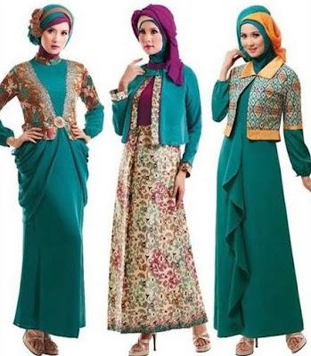 model baju batik modern hijab masa kini