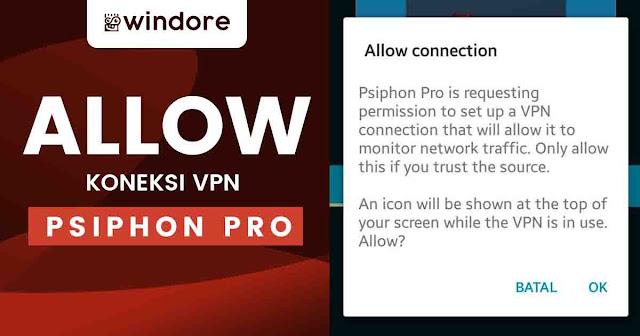Menyetujui Psiphone Pro 3 untuk Koneksi Anda