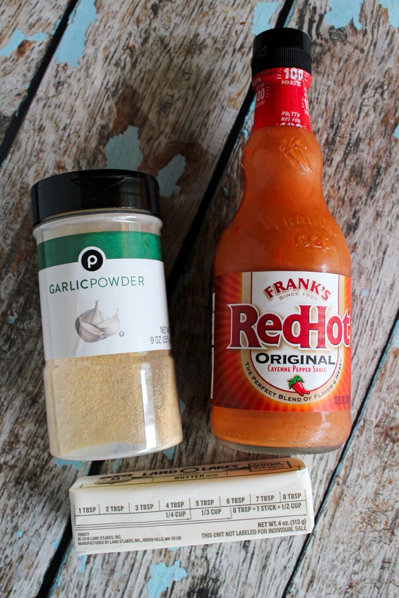 Homemade Buffalo Wing Sauce is a three ingredient recipe that you can make in just five minutes. It makes the best chicken wings and is great added to lots of other recipes, too! #buffalosauce