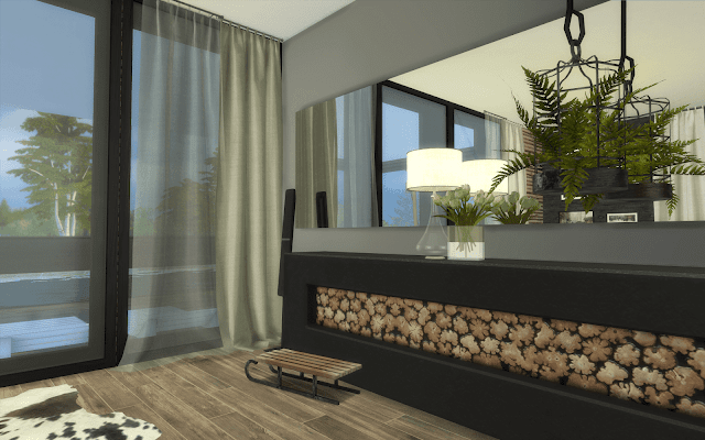 décoration luxe sims 4