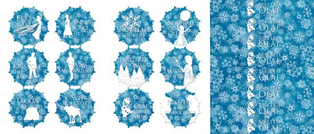 Etiquetas para Fiesta de Frozen.
