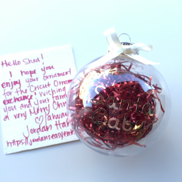 "Create the ""Santa Baby"" Ornament with Cricut!"