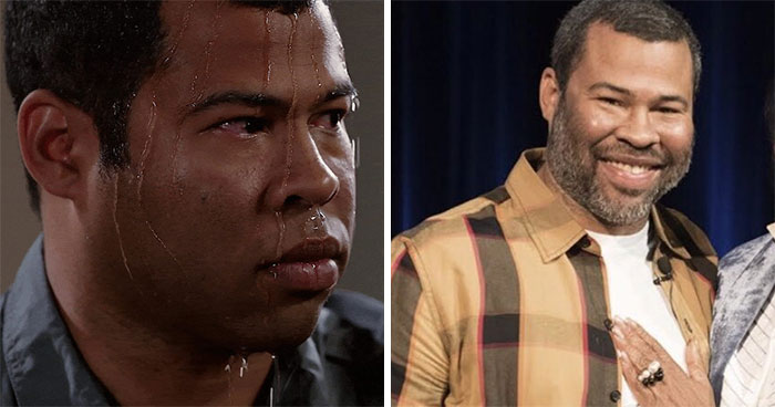 Sweating Jordan Peele
