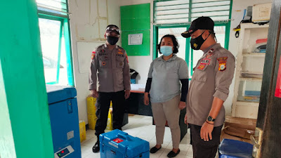 Pendistribusian Vaksin Covid ke Kecamatan di Torut Dikawal Ketat Polisi