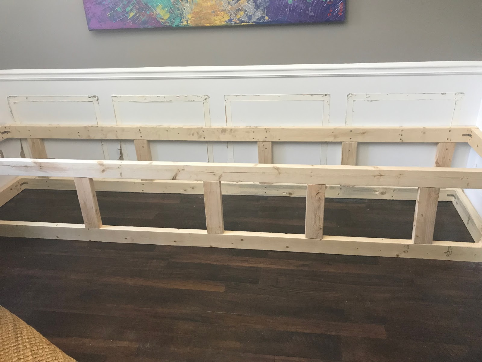 diy built in dining room bench
