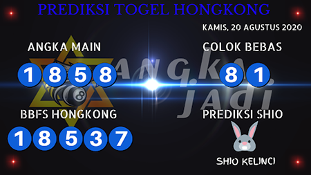 Prediksi Angka Jitu Togel Hongkong Kamis 20 Agustus 2020