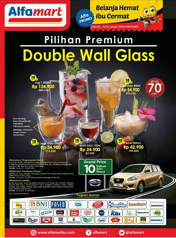 Promo Alfamart Terbaru Pilihan Double Wall Glass Stamp 16 Januari 2016 - 15 April 2016