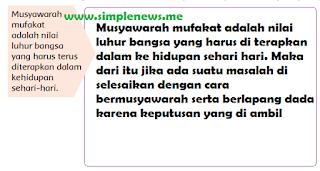 Musyawarah mufakat adalah nilai luhur bangsa yang harus terus diterapkan dalam kehidupan sehari-hari www.simplenews.me