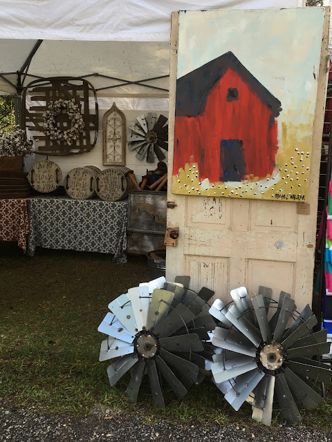 Rachel Walker Barn Painting Summerville Flowertown Festival 2017 | The Lowcountry Lady