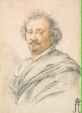 Portrait of Giulio Strozza by Simon Vouet - History, Portrait Drawings from Hermitage Museum
