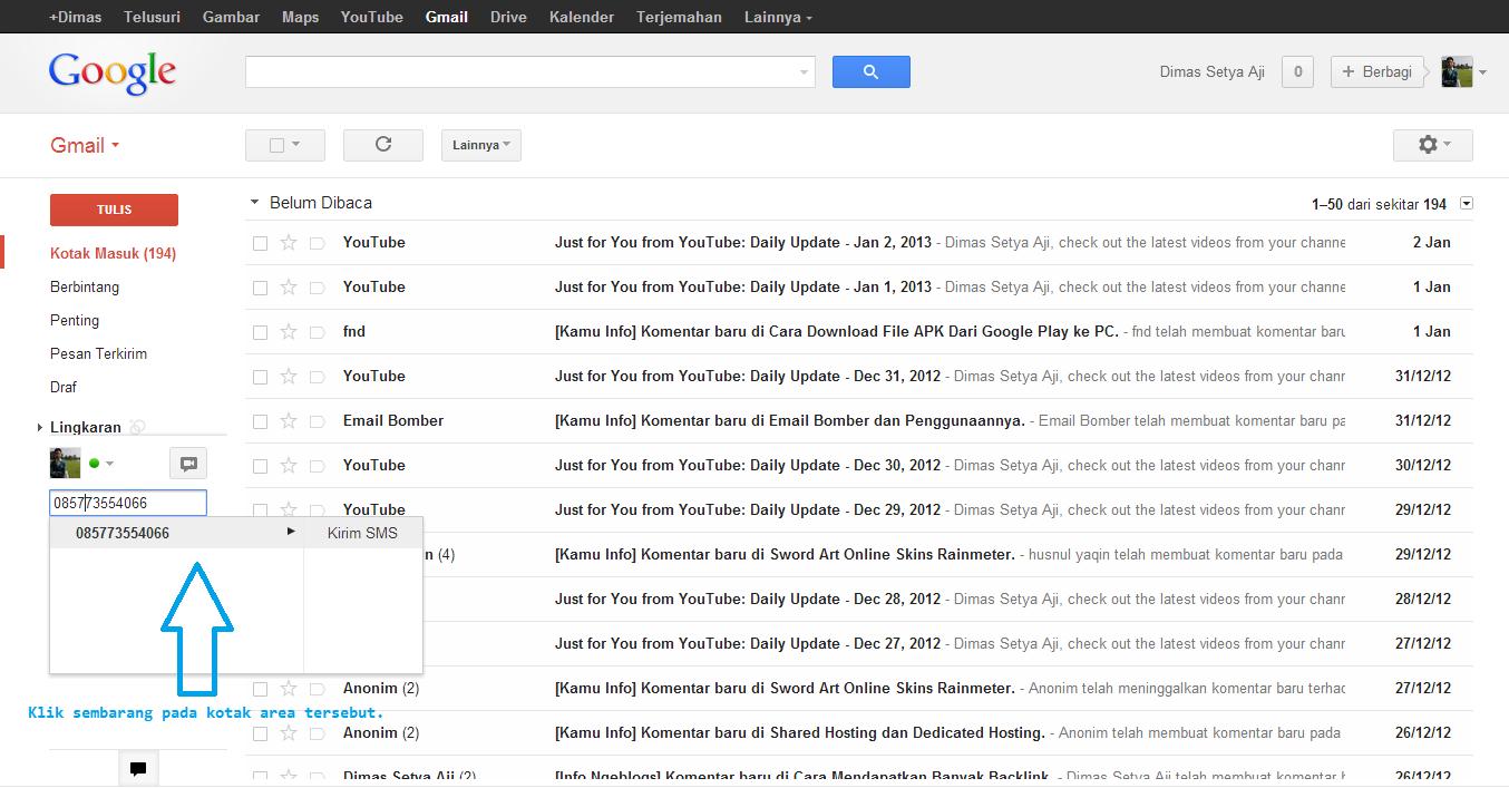 Just for Fun: Cara Mengirim Sms Gratis di gmail