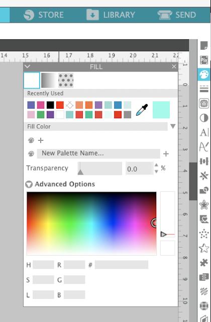 fill color, silhouette studio tutorials, studio v4.2, fill color swatches