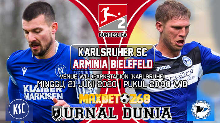 Prediksi Karlsruher SC vs Arminia Bielefeld 21 Juni 2020 Pukul 20:30 WIB