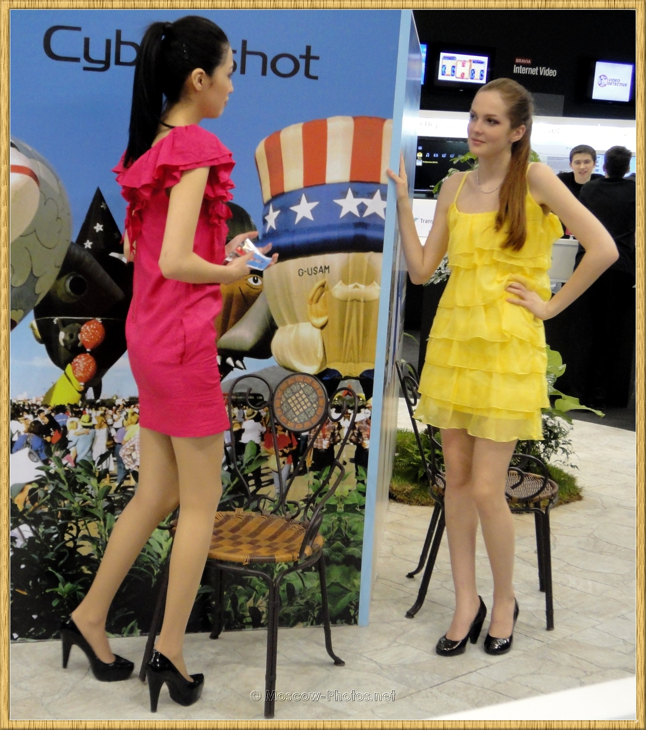Promotional Model in Summer Dresses