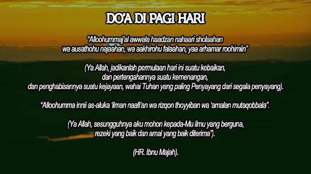 Doa Menyambut Pagi - Blog Al Qur'an Online Shop