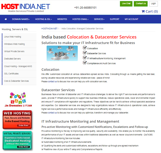 Colocation & Datacenter Services in India