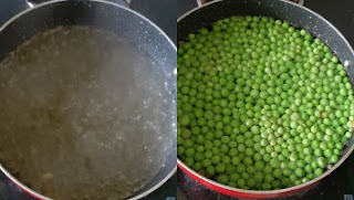 how to make frozen green peas at home