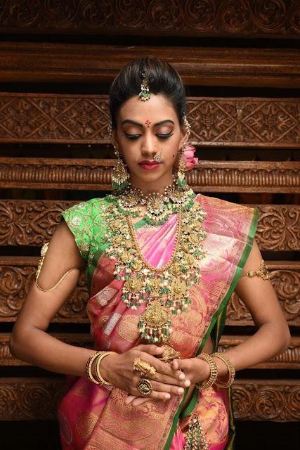 Bride in Guttapusalu Nagas Choker