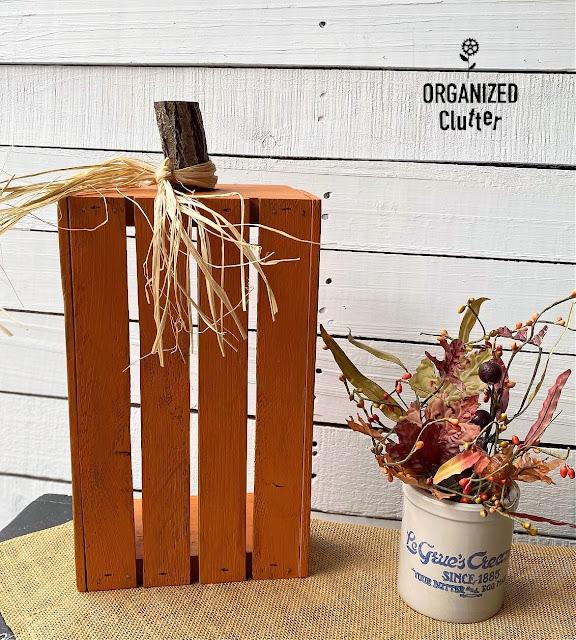 Photo of a DIY Repurposed Crate Pumpkin