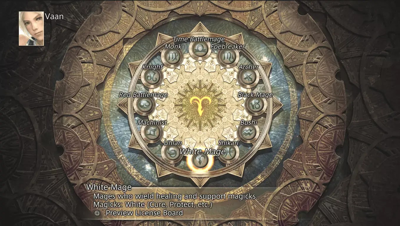 12 Jobs Final Fantasy XII : Zodiac Age