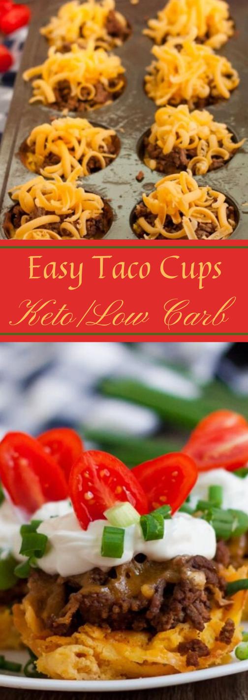 KETO LOW CARB TACO CUPS #keto #taco #healthydiet #recipes #paleo
