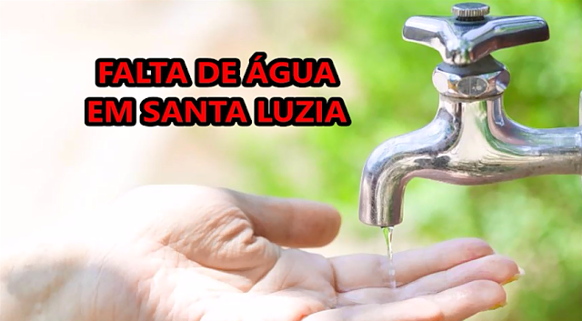 Abastecimento de água será interrompido em Santa Luzia no fim de semana
