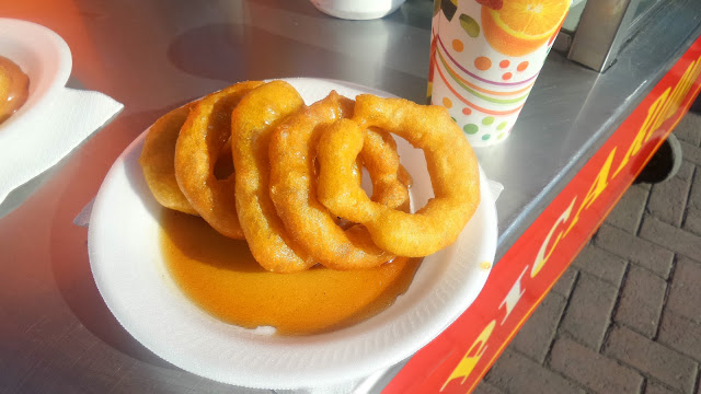 Picarones, a Peruvian street version of the donut