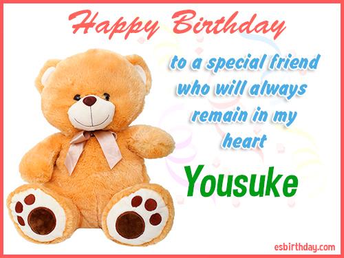 Yousuke Happy birthday friend