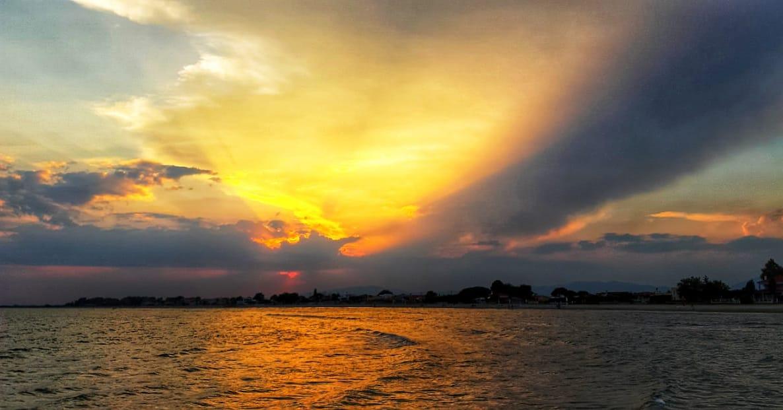 Ξάνθη: Ηλιοβασίλεμα για καρτ ποστάλ στα Άβδηρα