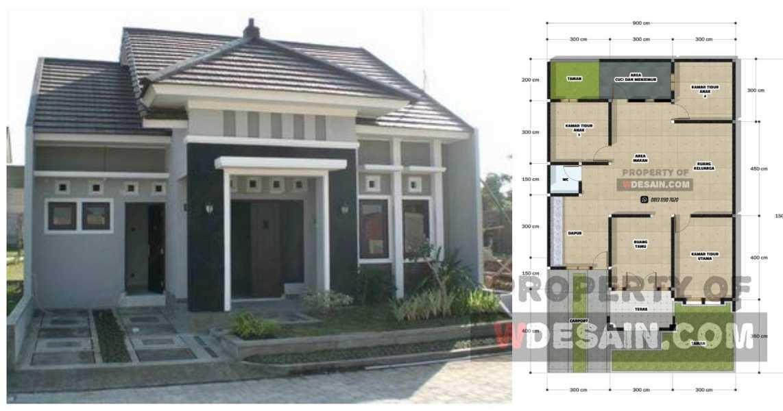 Desain Rumah Ukuran 9x15 3 Kamar - DESAIN RUMAH MINIMALIS