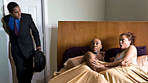 cheating husband wife room