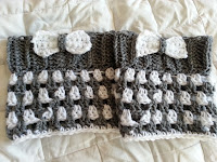Striped Boot Cuffs with Bow