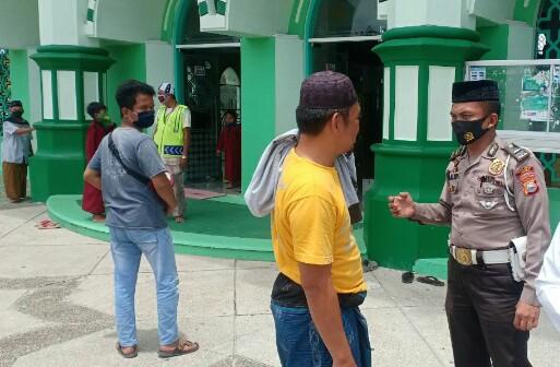 KBO Satlantas Sidrap, Lakukan Sosialisasi Pendisiplinan Protokol Kesehatan di Kecamatan Maritengngae, Sidrap