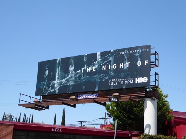 The Night Of series premiere billboard