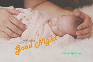 good night image of cute baby