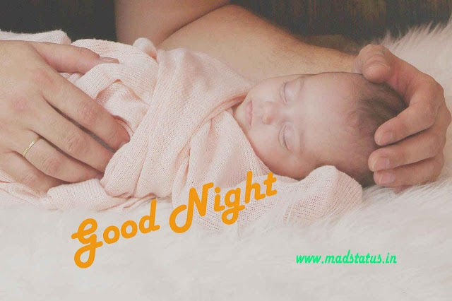 good night cute baby images with quotes