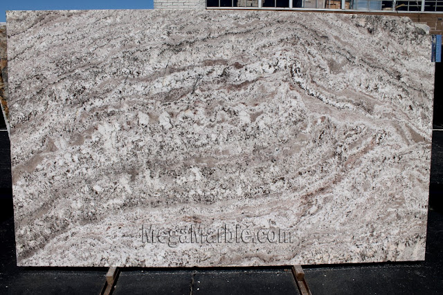 White Torroncino Granite slabs for countertop