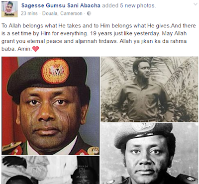 Gumsu Sani-abacha Remembers Her Dad Who Died Exactly 19 Years Ago Today
