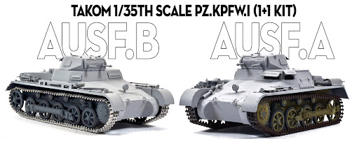Build Review Pt I: Pz.Kpfw.I Ausf.A & Pz.Kpfw.I Ausf.B (1+1 kit) in 35th scale from Takom.