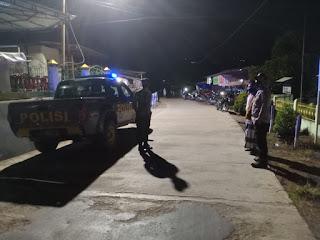 Agar Tercipta Kondisi Yang Aman Dan Tertib Polsek Malua Laksanakan Patroli Blue Light Pada Malam Hari